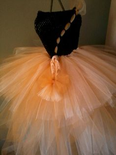 "Tutu-do orange and black ""Halloween Queen""? Ribbon, wand, etc"
