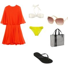 beach, please, created by nderebasi on Polyvore