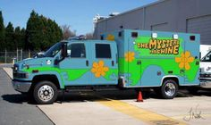 Mystery Machine---wonder if they dispense Scooby Snacks?