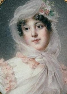 Jean-Baptiste Isabey (1767–1855)miniature on ivory_4.6 × 3.7 cm Louvre_#Louise Antoinette Lannes, Duchess of Montebello (*1782, Paris+ 1856, Paris) courtier, Mistress of the Robes to Empress Marie Louise of France. Daughter of senator+financier François Scholastique, Count of Guéhéneuc. She was the sister of general Charles Louis Joseph Olivier, Count of Guéhéneuc.On 1800, age 18 at Dornes she married general Jean Lannes (1769-1809), being his 2.wife. They had 5×children: four sons (named…