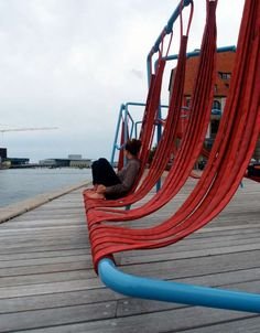 Hammock Public Seating : Off-Ground installation