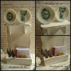Decorative auxiliary furniture with accesories. by MiniaturasDeEva, €10.00