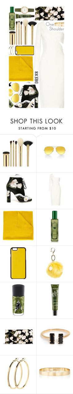 """One-Shoulder Dress: Contest Entry"" by isquaglia ❤ liked on Polyvore featuring tarte, Ray-Ban, Dolce&Gabbana, Cushnie Et Ochs, Denis Colomb, Jo Malone, Knomo, Topshop, MAC Cosmetics and Caudalíe"
