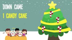 5 Candy Canes song!  Christmas counting song for kids!  #christmas #preschool #kindergarten