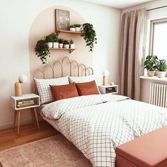 Room Ideas Bedroom, Small Room Bedroom, Zen Bedrooms, Cozy Small Bedrooms, Scandi Bedroom, Cheap Bedroom Decor, Modern Bedrooms, Stylish Bedroom, Scandi Living