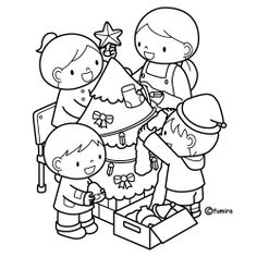 DIBUJITOS INFANTILES - Marilú San Juan Ibarra - Álbumes web de Picasa Christmas Crafts For Kids, Christmas Activities, Coloring Sheets For Kids, Coloring Books, Color Activities, Preschool Activities, School Clipart, Watercolor Illustration, Hello Kitty
