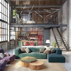 Loft Apartment Ideas grant modern charcoal grey armless corner sectional | modern loft