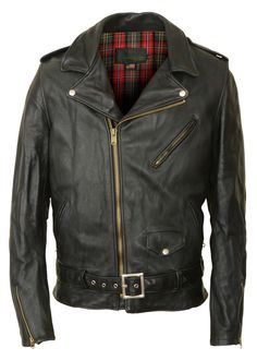 SCHOTT | Men's Vintaged Cowhide Perfecto Asymmetrical Motorcycle Jacket PER2