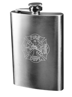 Engraved Stainless Steel Flasks - Marines Corps, Army, Fire Dept,Police- 8oz
