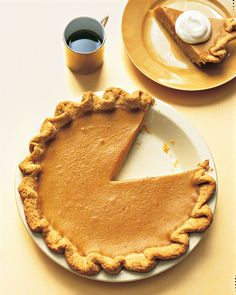 Traditional Pumpkin Pie with a Fluted Crust | Martha Stewart Living -  Purists looking to deviate only slightly from the familiar will find the nuanced flavors they expect within these whimsically exaggerated fluted edges.