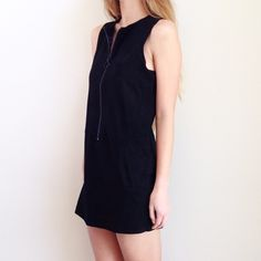 suede zipper mini dress offers welcome new without tag size small black faux suede mini dress with front zipper and faux pockets. •570087•  instagram: @xomandysue Forever 21 Dresses Mini