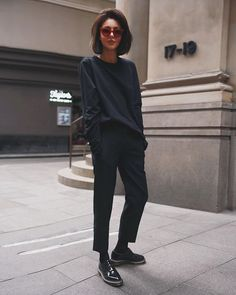 New Moda Casual Outfits Simple Classy Ideas Looks Street Style, Looks Style, Style Me, Black Style, Simple Style, Mode Outfits, Casual Outfits, Fashion Outfits, Woman Outfits