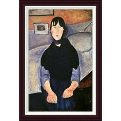 Global Gallery La Fille du Peuple by Amedeo Modigliani Framed Painting Print