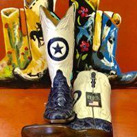17aa7df6f Custom Blue Pirarucu Black Jack Boots. USA Made! #BlackJackCustoms  #BigBassBoots #PearlTop #MuleBarn