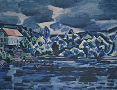 Vaclav Spala Thunderstorm by the river Otava 1930 by 115 cm) Thunderstorms, Siena, Impressionist, New Art, Modern Art, Auction, River, Landscape, Artist