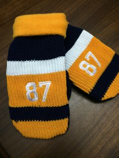 Number Hockey Sock Mittens by SoWildApparel on Etsy https://www.etsy.com/listing/252097061/number-hockey-sock-mittens