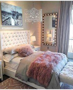 Probably The Most Beautiful Girls Bedroom Dream Rooms – My Life Spot Dream Rooms, Dream Bedroom, Home Decor Bedroom, Girls Bedroom, Bedroom Themes, Teen Bedroom Furniture, Furniture Plans, Kids Furniture, Bling Bedroom