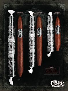 Room 101 OSOK's in three sizes (Filero, Truncha and Chingon). I'm not a fan of the Room 101 brands but I haven't had this one yet. It looks interesting, but never judge a cigar by its label.