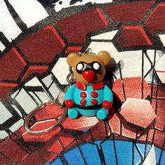 Handmade Bucky Bear, marvel superhero Bucky Barnes' plushie, keychain made with polymer clay. Bucky Barnes, Plushies, Captain America, Scooby Doo, Polymer Clay, Marvel, Bear, Superhero, Crafts