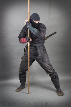 NINJA STOCK II by PhelanDavion Action Pose Reference, Human Poses Reference, Pose Reference Photo, Action Poses, Arte Ninja, Ninja Art, Ninja Warrior, Samurai Warrior, Samurai Poses