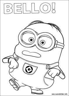 Download and Print Minion Girl Despicable Me Coloring