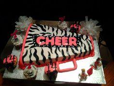 Cheerleading Sheet Cake Ideas Cheerleader Birthday Party Parties Birthdays And Cheer Cowboy Bir Cheer Birthday Party, Cheer Party, Girl Birthday, 14th Birthday, Birthday Ideas, Cheer Gifts, Cheer Mom, Cheer Stuff, Cheerleading Cake