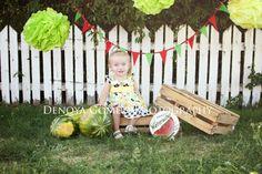 watermelon mini, themed session, girl, cutie, kids