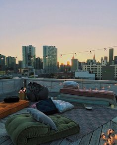 Enjoying every last moment of the weekend. Check out our IG story to see our rooftop movie night! : @brixiedust #UOHome