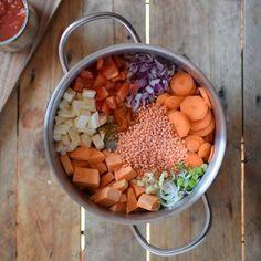 One-pot linsgryta med sötpotatis | Recept | ViktVäktarna