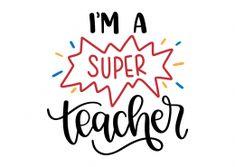 Teacher Signs, Teacher Boards, Preschool Logo, Teaching Quotes, Free Svg Cut Files, Brother Scan And Cut, Silhouette Design, Teacher Appreciation, Svg Cuts