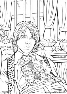 Harry Potter And The Goblet Of Fire 2000 Coloring Book Page