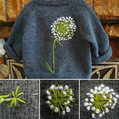 Knitting and crochet Embroidery Art, Cross Stitch Embroidery, Embroidery Patterns, Knitting Patterns, Sewing Patterns, Crochet Patterns, Embroidery Fashion, Knitting Projects, Diy Clothes