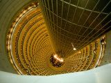 Looking Down into the World's Tallest Atrium at the Jinmao Tower