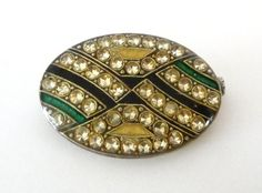 Vintage Pierre Bex Enamel Brooch Pin Art Deco by TreasuresOfGrace
