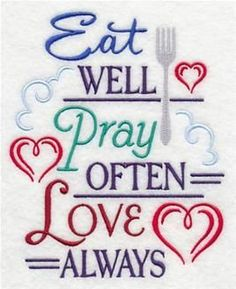 Machine Embroidery Designs at Embroidery Library! - Kitchen Words of Wisdom