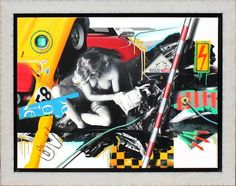 Peter KLASEN (né en 1935) - Jeune femme dénudée,. corrosif 5 - 2013 - Technique mixte sur toile. Signé, daté et titré au dos. 97 x 130 cm  Estimation : 15 000/20 000 € Mis en vente le Dimanche 5 juillet 2015 par Cannes Enchères