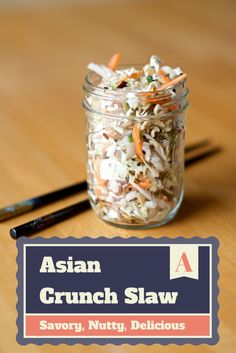 crunchy asian slaw from how i pinch a penny #pinoftheday #coleslaw #yummy