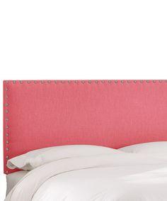 This Coral Linen Nailhead Border Headboard is perfect! #zulilyfinds