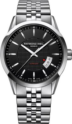 Raymond Weil Watch Freelancer Mens #bezel-fixed #bracelet-strap-steel #brand-raymond-weil #case-depth-10-2mm #case-material-steel #case-width-42mm #date-yes #delivery-timescale-4-7-days #dial-colour-black #gender-mens #luxury #movement-automatic #official-stockist-for-raymond-weil-watches #packaging-raymond-weil-watch-packaging #style-dress #subcat-freelancer #supplier-model-no-2730-st-20021 #warranty-raymond-weil-official-2-year-guarantee #water-resistant-100m
