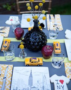 NYC inspired dinner party