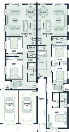 Dual Occupancy House Plans   Google Search
