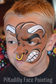 For an upcoming Rodeo! … For an upcoming Rodeo! Face Painting For Boys, Face Painting Designs, Paint Designs, Animal Face Paintings, Animal Faces, Cow Face Paints, Kids Makeup, Boy Face, Belly Painting