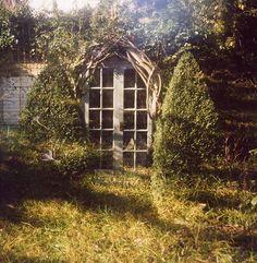 Dreaming in the Garden.  Fenetre