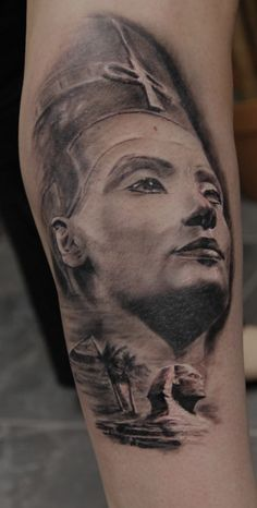 Nefertiti tattoo  Tattooartist Bogdan Norbert