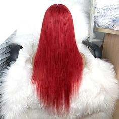 FPC Blue Human Hair Wig Preplucked Hairline Remy Hair Brazilian Straight Lace Front Wig Glueless Red Wigs For Women Human Hair Crochet Braids, Human Braiding Hair, 100 Human Hair Wigs, Best Crochet Hair, Crochet Hair Styles, Weave Hairstyles, Straight Hairstyles, Crochet Christmas Stocking Pattern, Crochet Baby Jacket