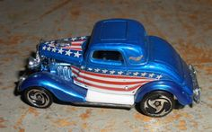 Vintage Toys Hot Wheels Sports Car Red White Blue by TheBackShak, $6.50