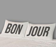 Bonjour Pillowcases