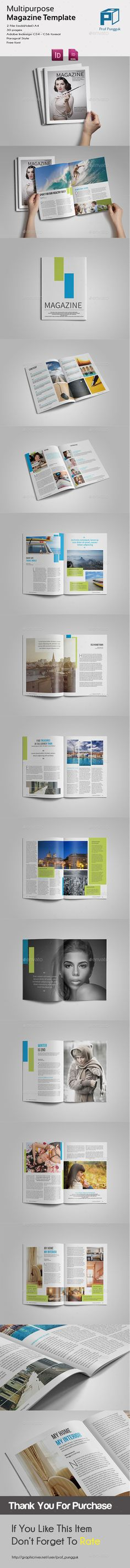 Simple Multipurpose Magazine by profpungguk Multipurpose MagazineThis is 24 page minimal magazine template is for designers working on multipurpose design magazines, product/