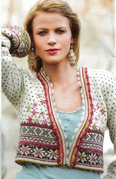 Rauma 207R-2 Crochet Cardigan, Knit Crochet, Punto Fair Isle, Knitting Room, Fair Isle Knitting Patterns, How To Purl Knit, Vintage Knitting, Cardigans For Women, Bunt