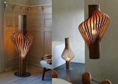 collection lampes chic en contreplaqué